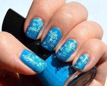 Nageldesign: Glitter meets Stamping