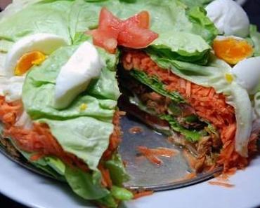 Gesunde Torte einmal anders: aus Salat!