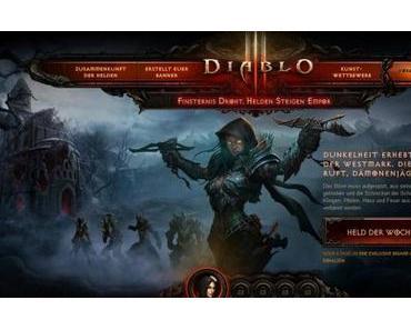 Diablo 3 – Launch-Webseite online – Ingame Siegel freischaltbar