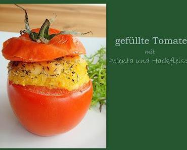 Für uns gekocht: Gefüllte Tomate mit Polenta und Hackfleisch