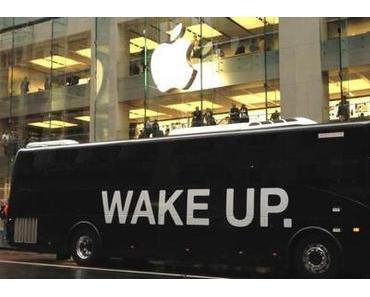"""""""Wake Up."""" Aktion von Samsung vor dem Apple Store in Sydney"""