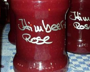 Himbeer-Rosen Marmelade ohne Kerne