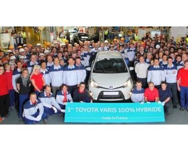 Produktion des Toyota Yaris Hybrid in Valenciennes angelaufen