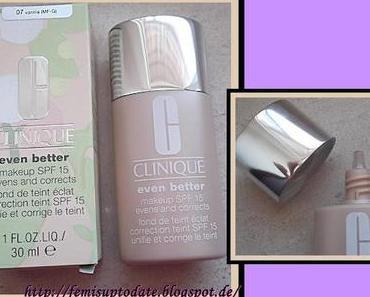 Clinique Even Better Make up - Farbvergleich