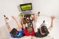 Fußball Genuss auf Großbild für zu Hause
