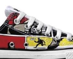 7b732fc60266  Converse Schuhe All Star Chucks 111122 OX Comicprint limited Edition  Belgien