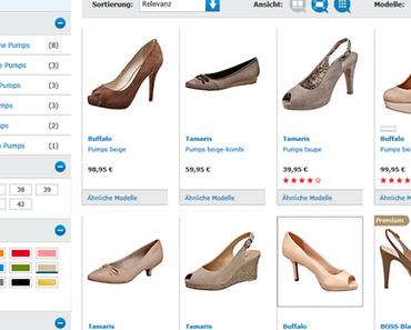 Auf der Suche nach Schuhen: Mirapodo