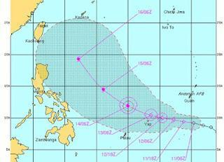 Taifun GUCHOL (evtl. Philippinen: BUTCHOY) bedroht potentiell Japan und China