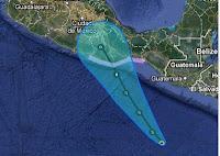 Tropisches Tief 3-E (pot. Hurrikan CARLOTTA) bedroht Oaxaca, Mexiko