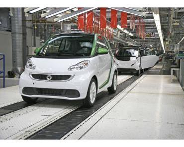 Produktions- und Verkaufsstart für den neuen smart fortwo electric drive