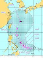 Tropensturm GUCHOL ist jetzt ein Taifun und heißt mit Zweitnamen BUTCHOY
