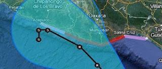 Tropischer Sturm (pot. Hurrikan) CARLOTTA aktuell: Hurrikanwarnung in Oaxaca, Mexiko aktiviert