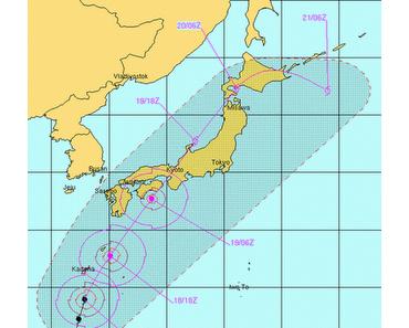 Taifun GUCHOL (BUTCHOY) baut ab - jetzt doch nach Japan