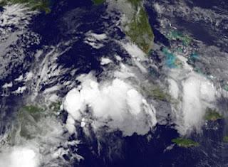 Tropischer Sturm DEBBY im Golf von Mexiko wird wahrscheinlicher