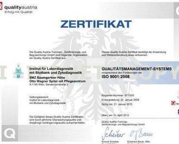 Im Wiener Gesundheitswesen sind Zertifizierungen wie Totenscheine