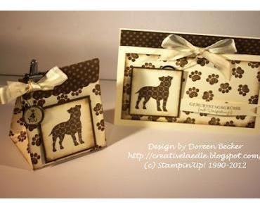 Anleitung Verpackungstüte + Geschenkset für Hundefreunde