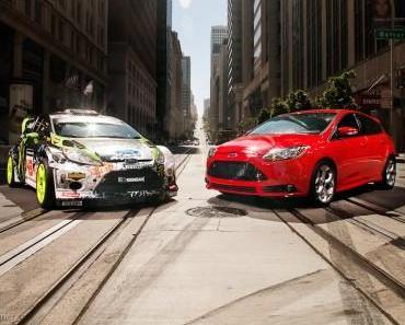 Neuer Ford Focus ST sondierte in San Francisco Terrain für spektakuläres Gymkhana-5-Driftvideo von Ken Block