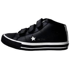 Winter Converse One Star Kinder Chucks 311368 Schwarz Leder Klett