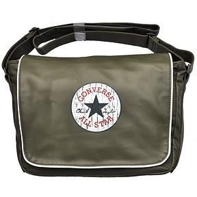 Converse Tasche Shoulder Flap Bag 99301-185 Laptoptasche Khaki Green, Oliv