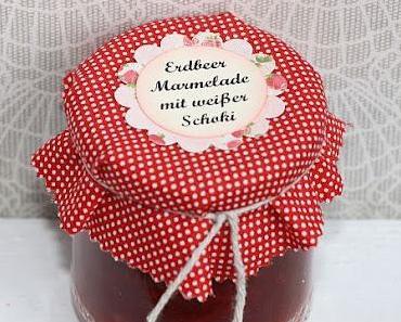 Erdbeer Marmelade mit weißer Schoki