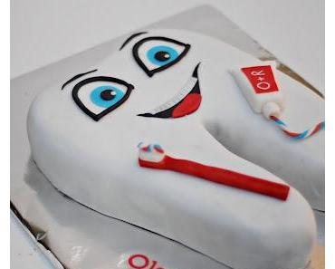 Ein Zahn als Kuchen