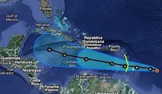 Tropischer Sturm ERNESTO zieht wahrscheinlich nach Yucatán oder in den Golf von Mexiko