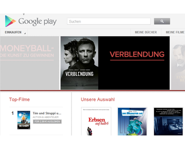 Google Play Movies in Deutschland verfügbar