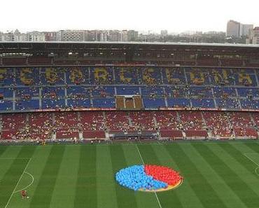 Camp Nou trägt blaugrana. Man feiert die Festa del Gamper