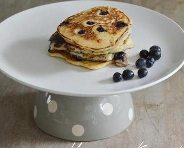 Blueberry Pancakes - kleine Blaubeer Pfannkuchen