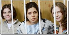 """Drei """"Muschis"""" für einen Putin"""