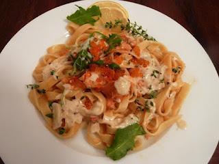 Pasta mit Lachs von der amerikanischen Westküste – Pasta with Salmon from the American West Coast
