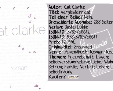 "[Rezension] ""vergissdeinnicht"" von Cat Clarke"