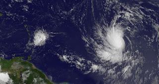 Tropischer Sturm | Hurrikan LESLIE zieht nicht in die Karibik