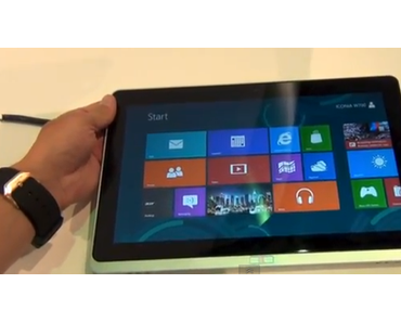 Acer Iconia Tab W510: Windows 8-Tablet mit 10 Zoll-Display (Video)