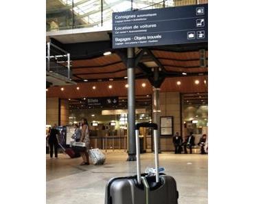 Mein Koffer und ich genießen Paris