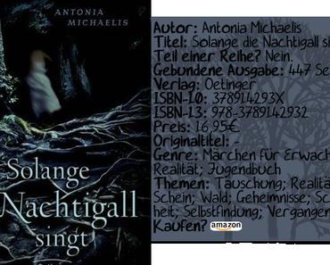"""[Rezension] """"Solange die Nachtigall singt"""" von Antonia Michaelis"""