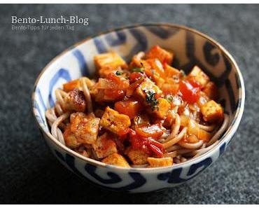 Rezept: Süßsauer Tomaten-Tofu-Soße mit Traubenkern-Pasta