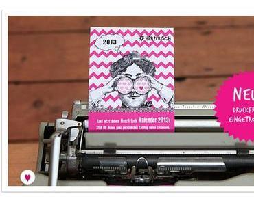 Der Miss Herzfrischs Kalender 2013 ist da!