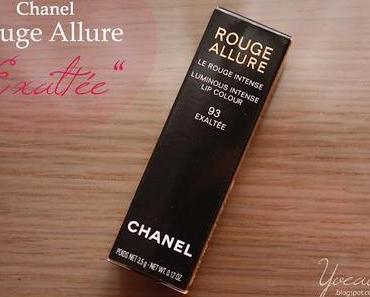 """Meiner neuer Herbst-Lippenstift: Chanel - Rouge Allure """"93 Exaltée"""""""