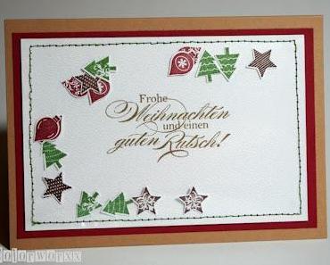 Schüttel-Weihnachtskarte mit Stampin Up