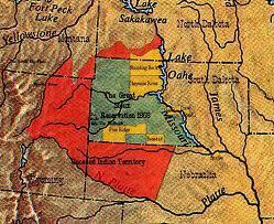 die Nation der Lakota-Sioux verlässt Amerika