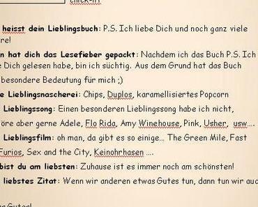 EINTRAG IN MEIN FREUNDEBUCH // Glitzerfee´s Buchtempel