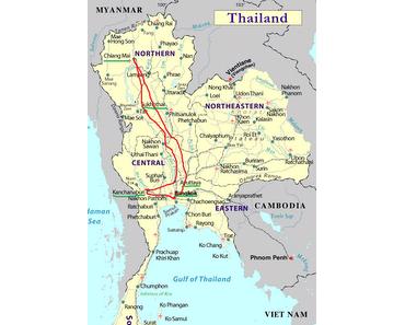 Meine Route durch Thailand