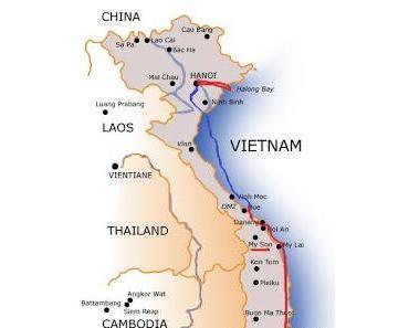 Unsere Route durch Vietnam