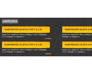 Installation von Wampserver (Apache, PHP, MySQL)