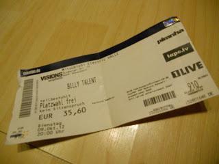 [Konzertbericht] Billy Talent (+ Anti-Flag) 09.10.12