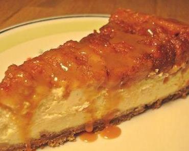 Mein Spekulatius-Cheesecake mit Bratapfel-Topping