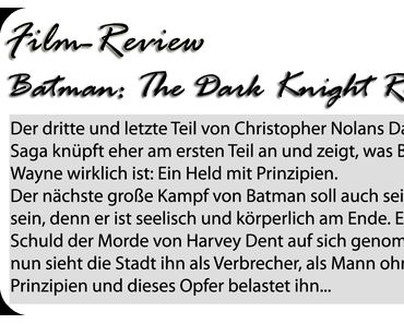 [Film-Review] The Dark Knight Rises