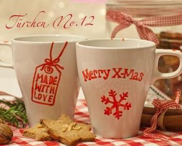 Adventskalender Türchen Nr. 12:  DIY-Geschenkidee – selbstgemalte Tassen