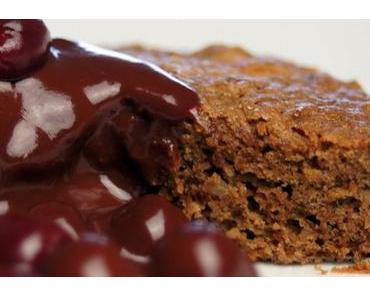 Lebkuchen-Dessert mit Schoko-Portwein-Kirschen